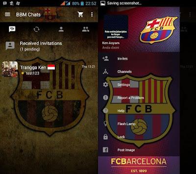 BBM Mod Tema Barcelona FC 3.3.6.51 Android 2017