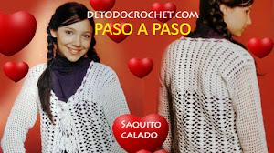 Patrones de Saco Calado para Niñas de 10 a 12 años /  Crochet Paso a Paso