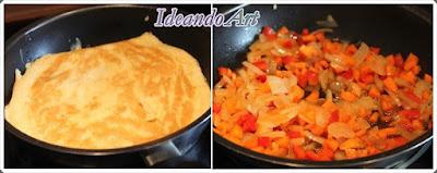 Tortilla y salteado para arroz