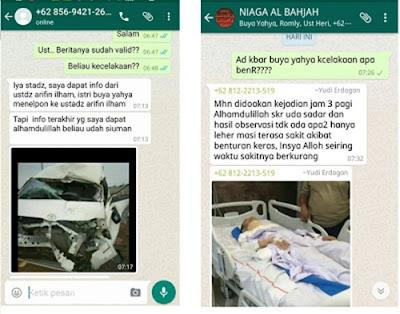 Innalillahi, Buya Yahya Kecelakaan di Jalan Tol Cipali
