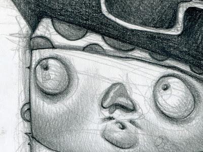 Pequeño pirata dibujado por David Pugliese