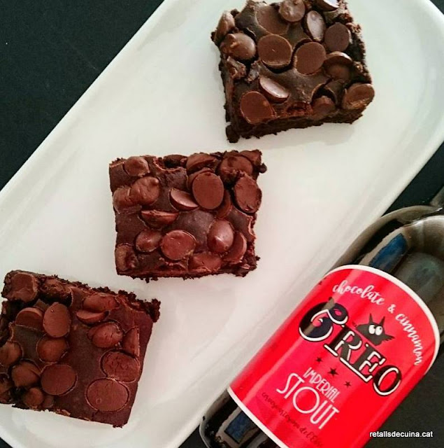 Brownie amb Cervesa Creo Imperial Stout
