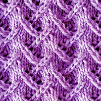 Zig Zag Lace Knitting. The lace pattern is extremely simple to memorize and do!