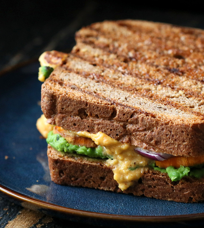 Grilled Nacho Cashew Millet Cheese Sandwich With Roasted