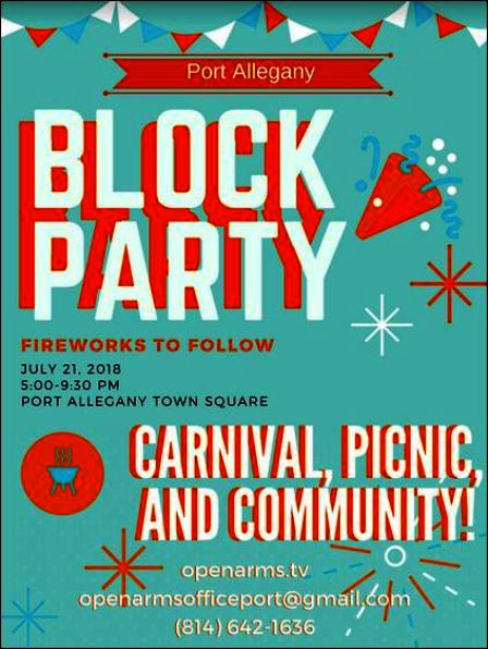 7-21 Port Allegany Block Party