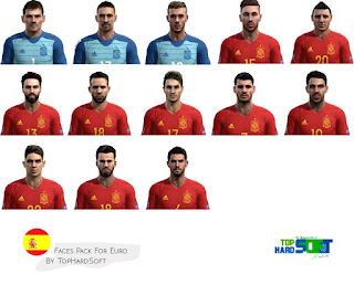 Pes 2013 Spain Faces Pack For Euro Cup 2016 By TopHardSoft