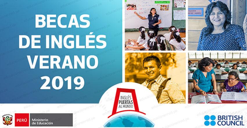 MINEDU: Convocatoria Beca Nacional de Inglés 2019 - www.minedu.gob.pe