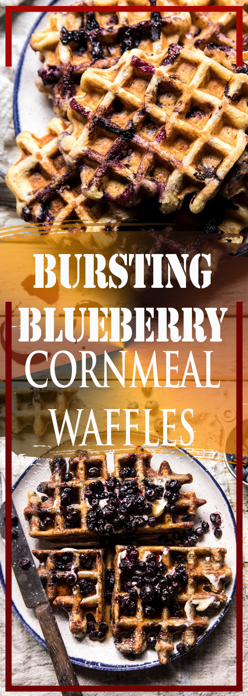 BURSTING BLUEBERRY CORNMEAL WAFFLES RECIPE