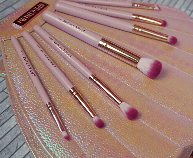 Upclose view of some of the spectrum brushes bombshell brushes