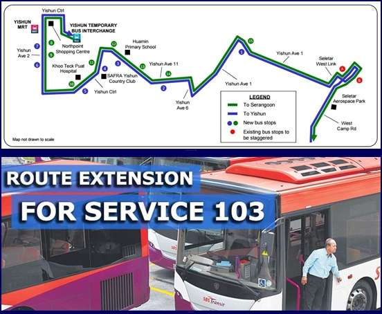 The extension of Bus 103 service