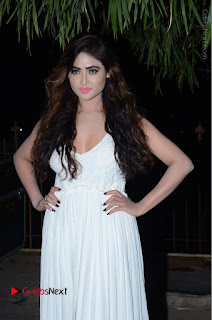 Telugu Actress Model Sony Charishta Pos in White Long Dress at Nanna Nenu Na Boyfriends Audio Launch  0013.JPG