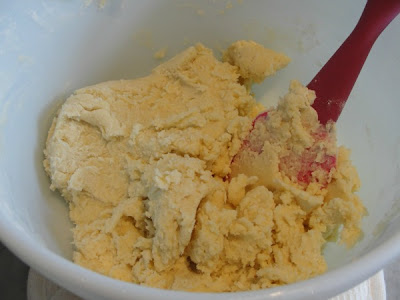 shortbread dough mixed