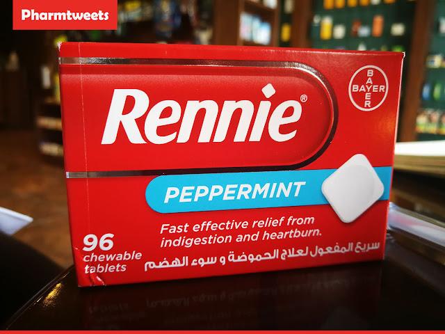 تعرف على دواء اقراص ريني Rennie للحموضة