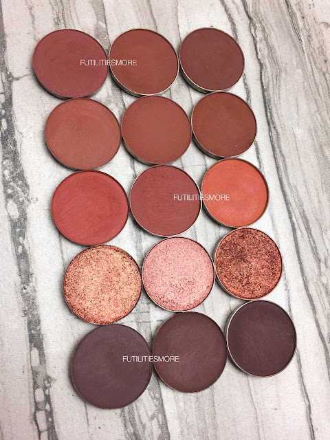 WARM BROWNS AND COPPERS Colourpop VS Anastasia Beverly Hills VS Makeup geek, futilitiesmore, futilitiesandmore, futilities and more, dupes