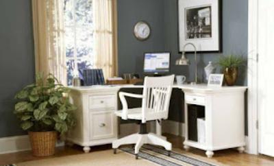 desain kantor dalam rumah
