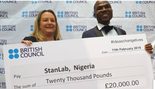 Job Oyebisi StanLab Wins £20,000 British Council Ideas Challenge