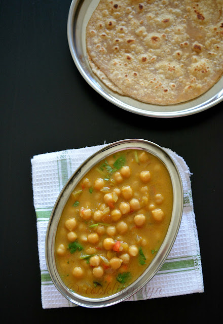 Channa Curry - Side dish recipe for chapathi