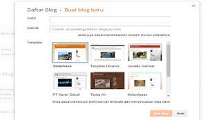 Cara Membuat Blog Dengan Blogger Untuk Pemula