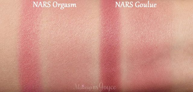 NARS Goulue Orgasm Blush Swatches