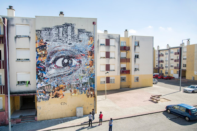 Vhils is back in Portugal where he just finished working on a brand new piece on the streets of Loures, a city in the central Portuguese Grande Lisboa Subregion.