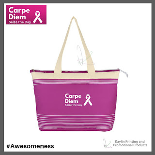 Promotional Pink Ribbon Tote Bags