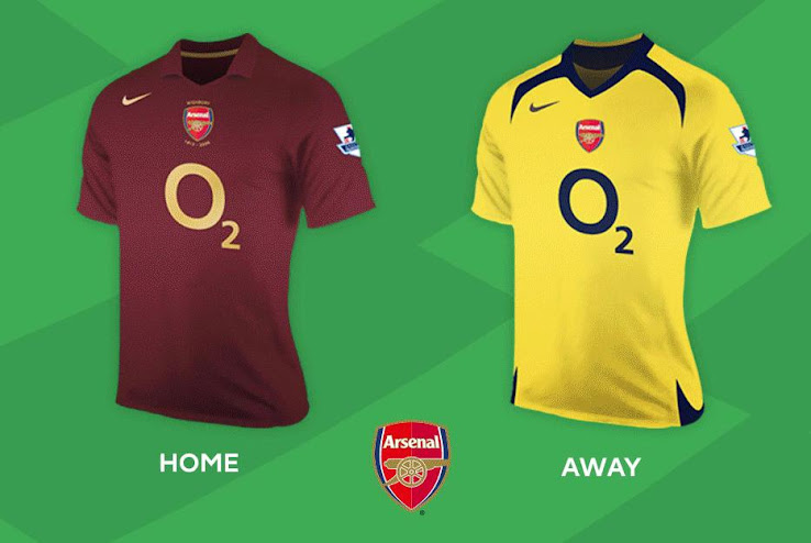 best cheap c381a cc18b Here are All Home & Away Kits of the Premier League 05-06 ...
