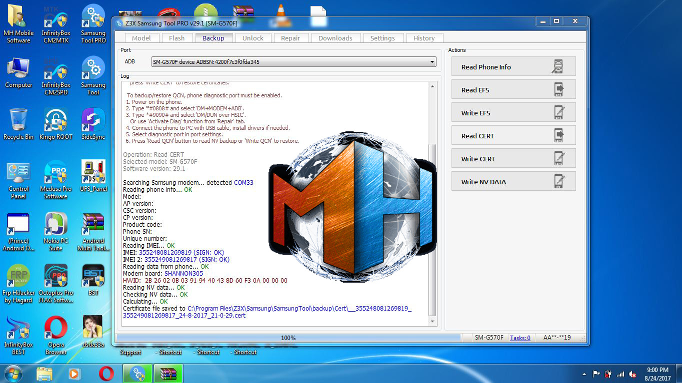 SM-G570f Imei Repair Z3X Cert File Download - www BestCertFiles Com
