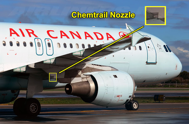 Air Canada and chemtrail nozzles.
