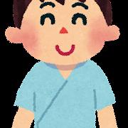 検査着の男性のイラスト(健康診断)