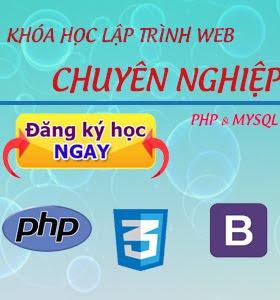 Đăng kí ngay khóa học lập trình php