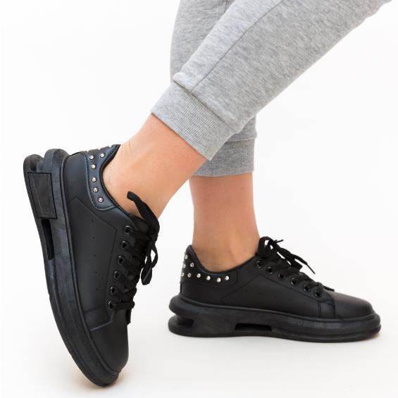 Pantofi Sport femei ieftini Negri cu talpa cu decupaje