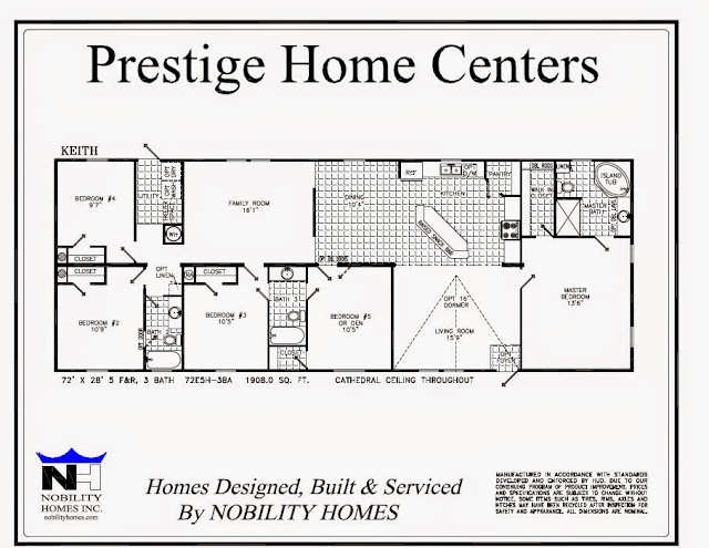 Keith 5 bedrooms 3 bath 1908 square feet prestige home for 5 bedroom 3 bath mobile home