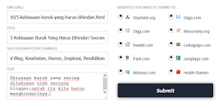 Cara Submit Blog Kesocial Marker ( Sosial Bookmarking )