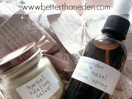 A Homemade and Crunchy Mama and Baby Postpartum Gift