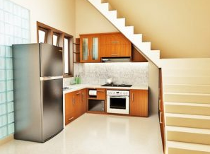 Desain%2BDapur%2BDi%2BBawah%2BTangga 17 Small Under Stairs Kitchen Design  Ideas
