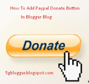 how to add paypal donate button