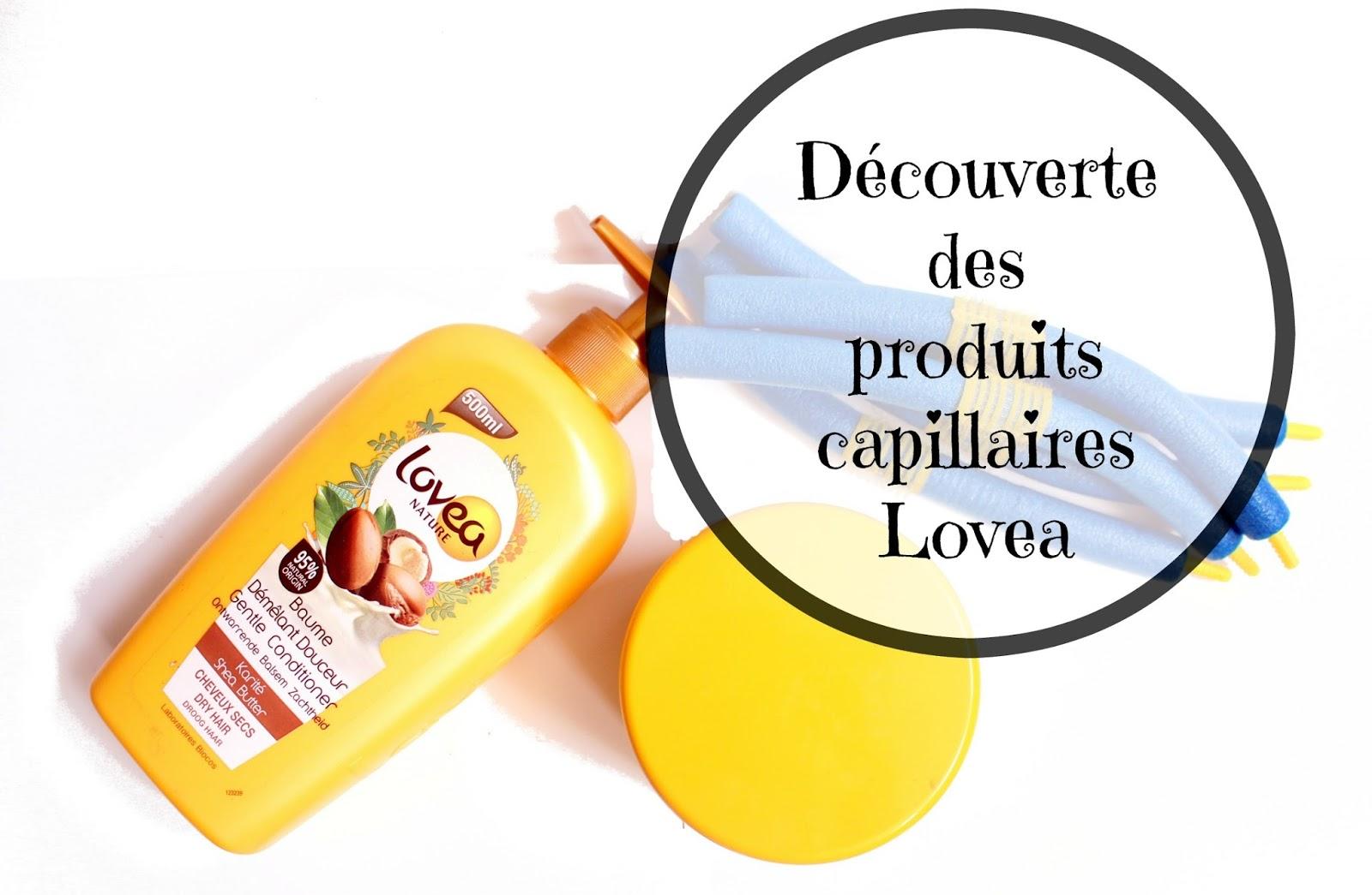 les produits capillaires de la marque Lovea