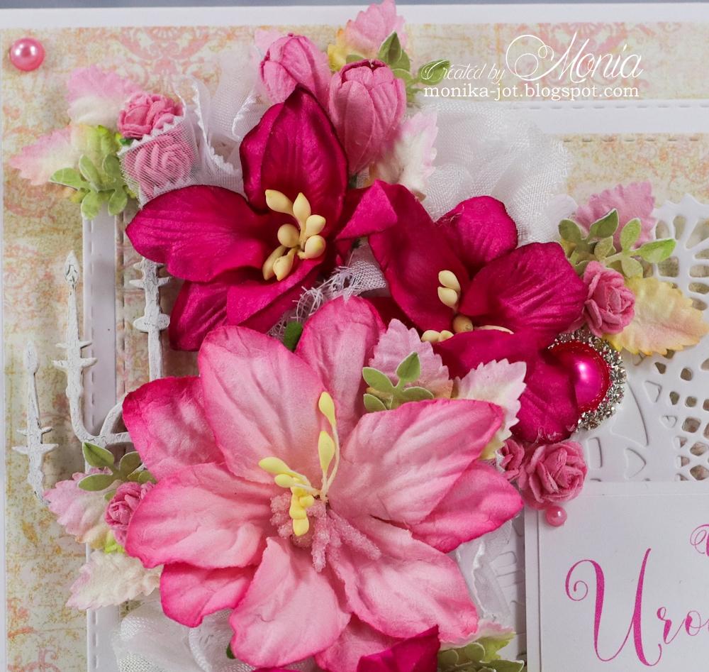 Wild Orchid Crafts Pink Birthday Card