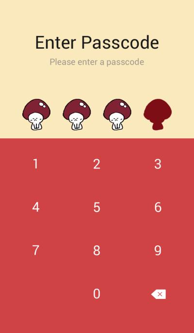 ENOKITOSHIMEJI The mushroom pattern.