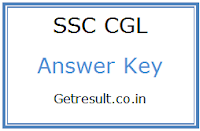SSC CGL Tier 1 Answer Key