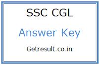 SSC CGL Tier 1 Answer Key