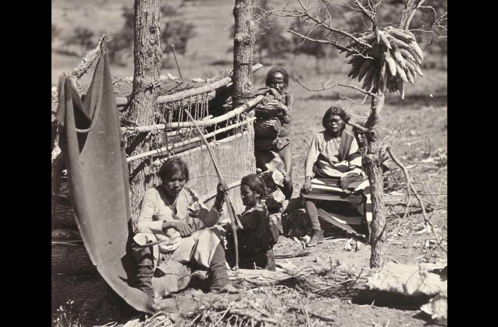 Aboriginal life among the Navajo Indians. Near old Fort Defiance, New Mexico, in 1873.