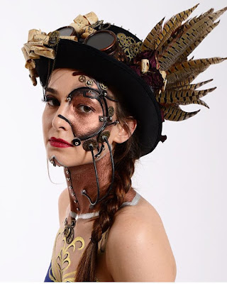 steampunk makeup how to DIY special fx prosthetics mask