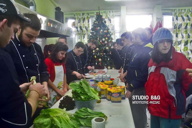 Μαθητές του Ο.Α.Ε.Δ. μαγείρεψαν για τους μαθητές των Ε.Ε.Ε.Ε.Κ Αργολίδας