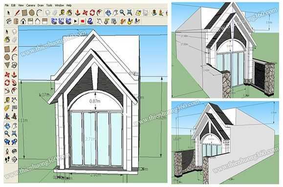 Kinh nghiệm xây nhà mới: Bản vẽ 3D kiến trúc nhà, mình thiết kế bằng SketchUp Pro