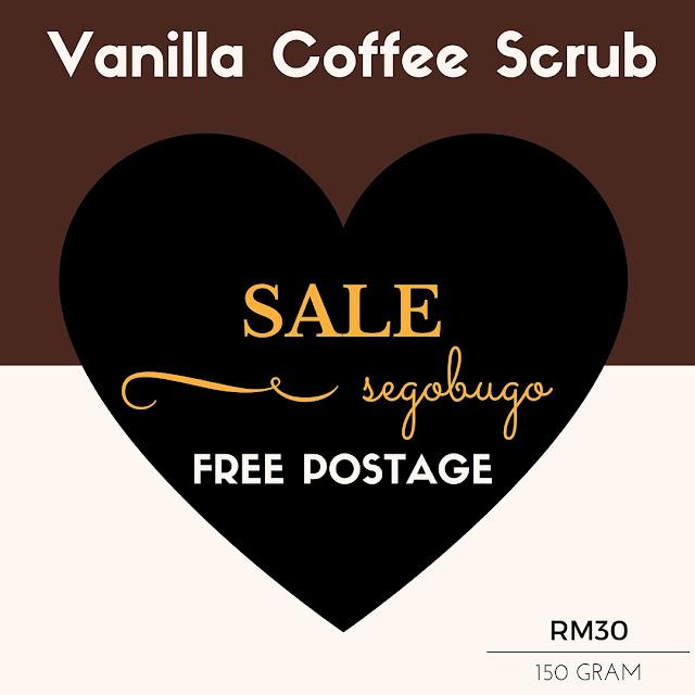 promosi vanilla coffee scrub murah