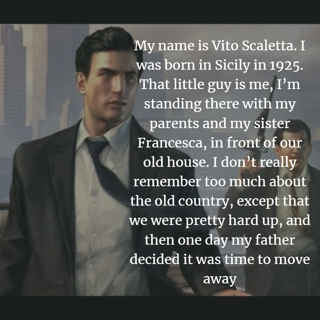 Top Quotes of Mafia 2 Game Vito and Joe Quotes - Quotes & Movies