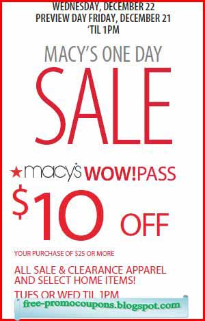Printable coupons for macys december 2018