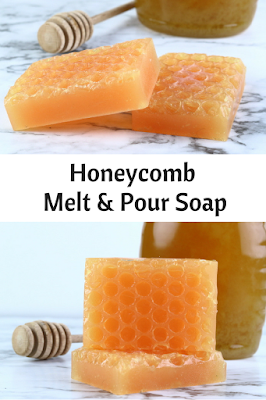 How to make honey comb melt and pour soap. Use any base and make this recipes honey with simple techniques. This tutorial doesn't need special molds. This recipes for beginners is a cute and fun ideas and designs. Learn how to use honey as additives and make designs beautiful for eash diy soap making.  Get ideas inspiration for recipes easy for soap making. #meltandpour #honeysoap #honeycomb #honey