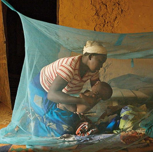 Until final approval of the malaria vaccine, mosquito netting is still the most effective tool against malaria.